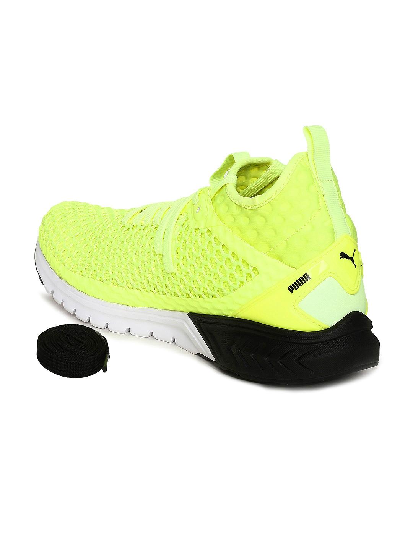 d7ce8b0bd5de Buy Puma Men Yellow IGNITE Dual NETFIT Sports Running Shoes - Sports ...