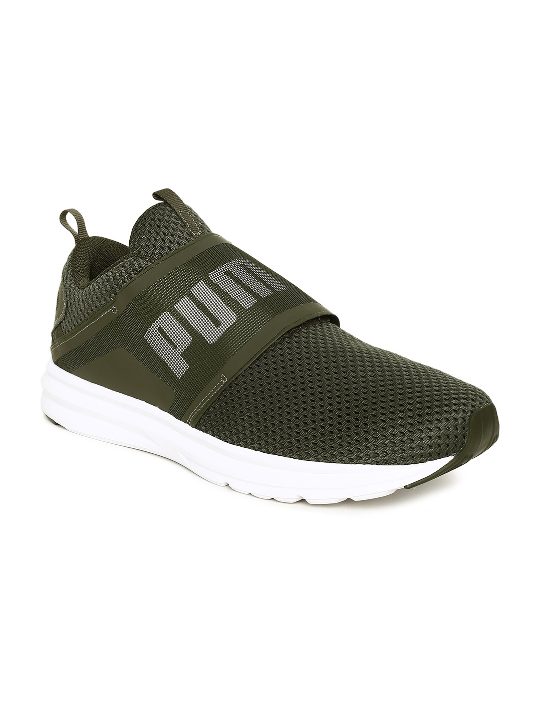 abbb7d9af0e28d Buy Puma Men Olive Green Enzo Strap Mesh Training Shoes - Sports ...