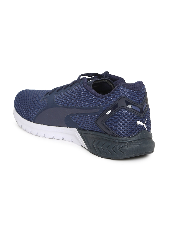 sports shoes 1870e a5c19 Buy Puma Men Navy Blue IGNITE Dual New Core Running Shoes - Sports ...