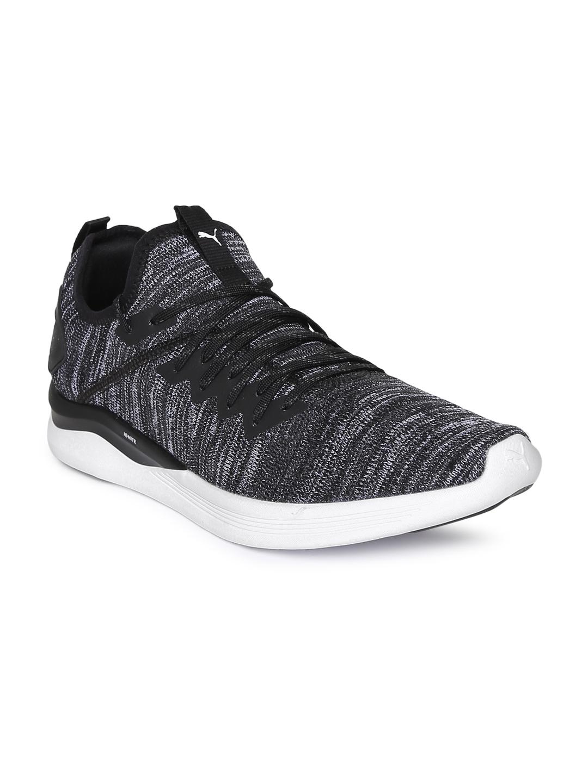 1dd8c5f028b Buy Puma Men Black   Grey IGNITE Flash EvoKNIT Running Shoes ...