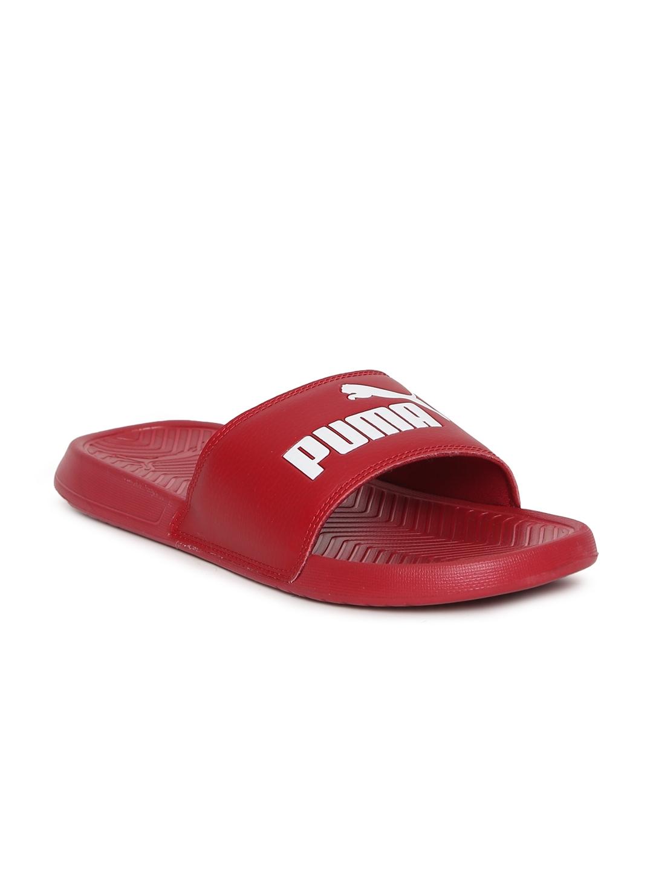 69bdb8630fe5 Buy Puma Men Red Popcat Slides - Flip Flops for Men 2429875
