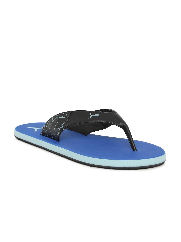 Buy Puma Unisex Black   Blue Winglet II DP Flip Flops - Flip Flops ... 9b98b3f70