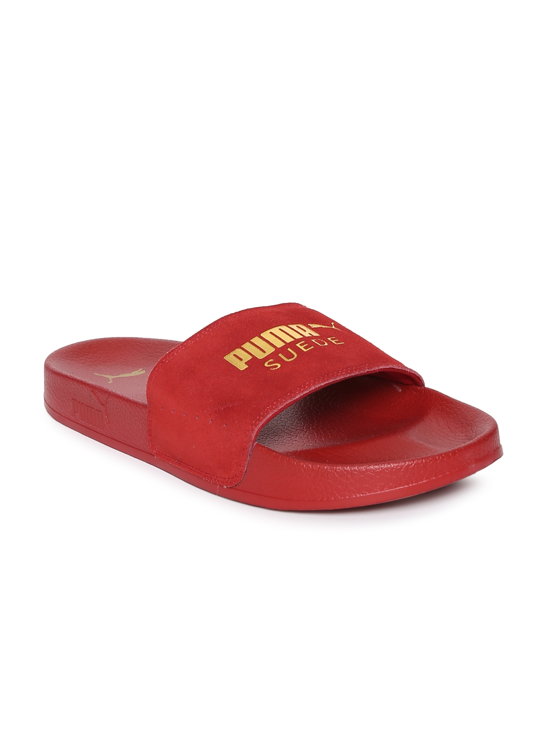 Buy Puma Men Red Leadcat Suede Slides - Flip Flops for Men 2429899 ... fa3e4c330