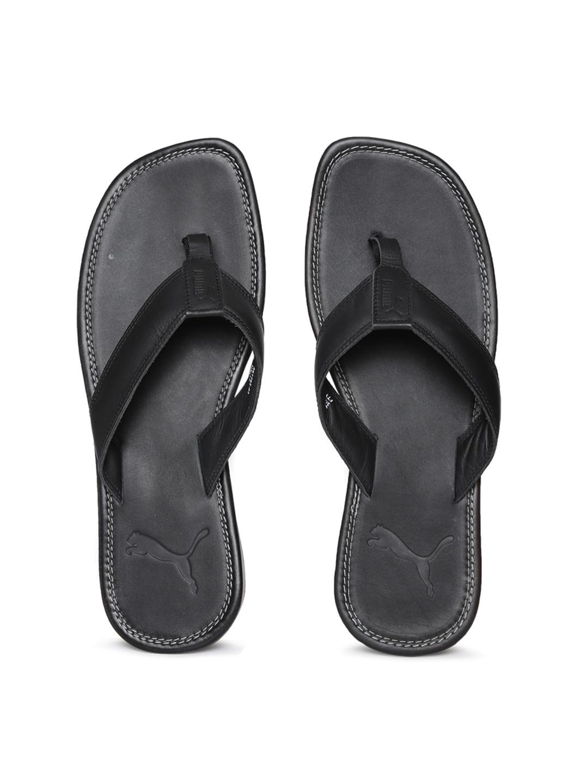 PUMA Sandale Mens Leather Flip Flops