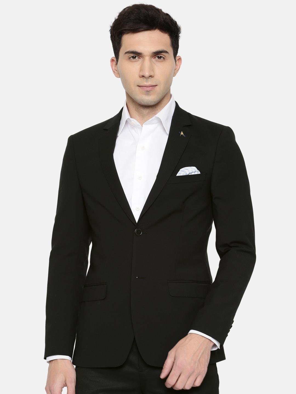 699cf9c0ba96 Buy Arrow Men Black Single Breasted Tailored Fit Formal Blazer ...
