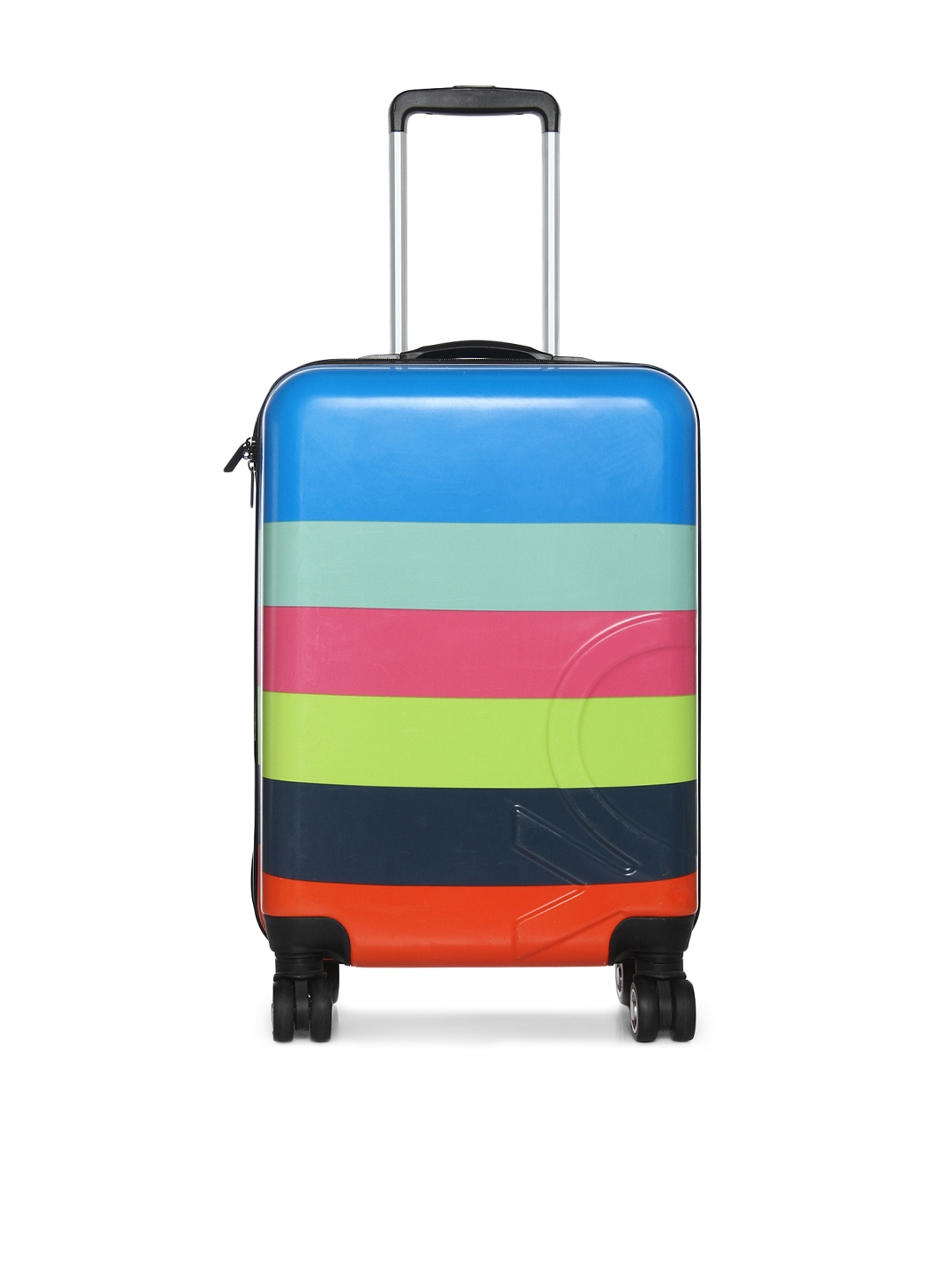 df8e1b4ff81d United Colors of Benetton Unisex Multicoloured Cabin Trolley Suitcase