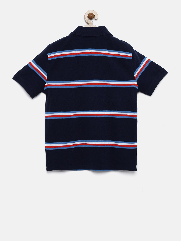 3532673c Buy Tommy Hilfiger Boys Navy Striped Polo T Shirt - Tshirts for Boys ...