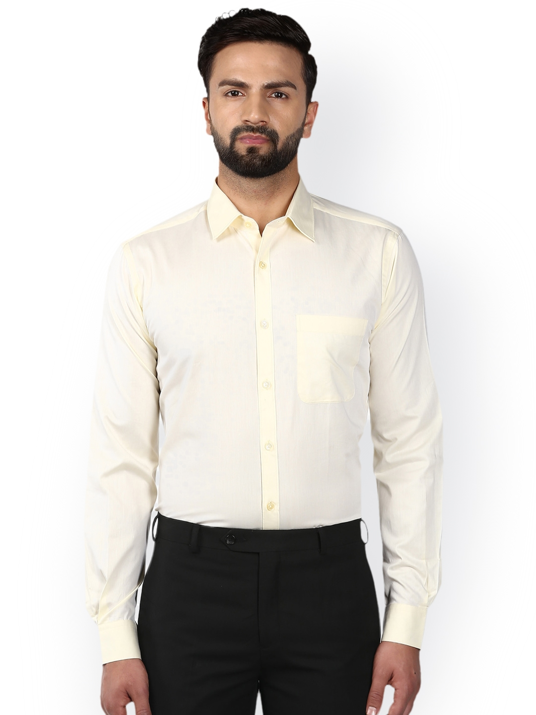d66a6d2ad Buy Raymond Men Cream Coloured Slim Fit Solid Formal Shirt - Shirts ...