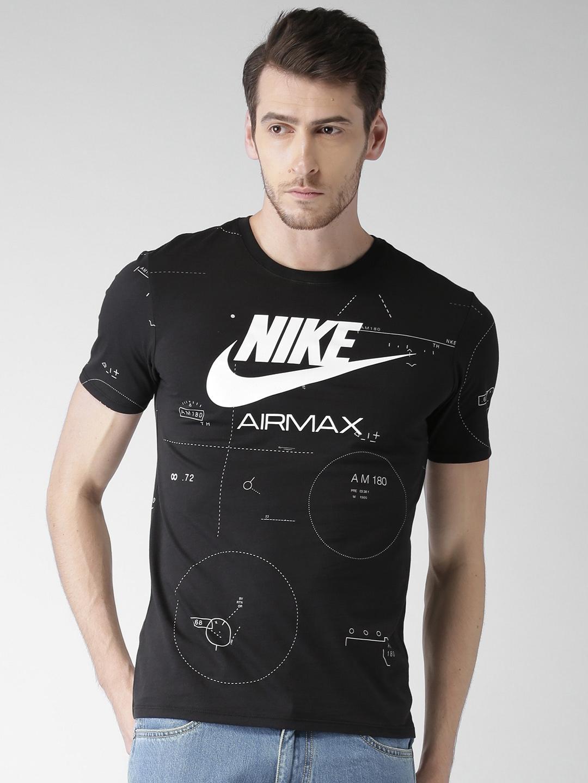 294682c7cc013 Buy Nike Men Black Printed Round Neck FUTURA ICON T Shirt - Tshirts ...