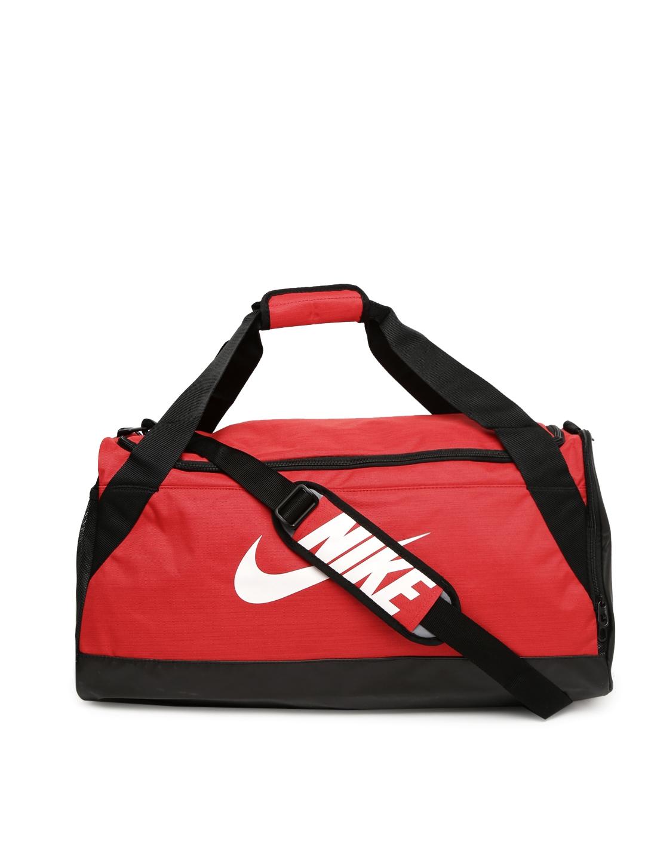 c44e9bc215 Buy Nike Unisex Red Brasilia Medium Training Duffel Bag - Duffel Bag ...