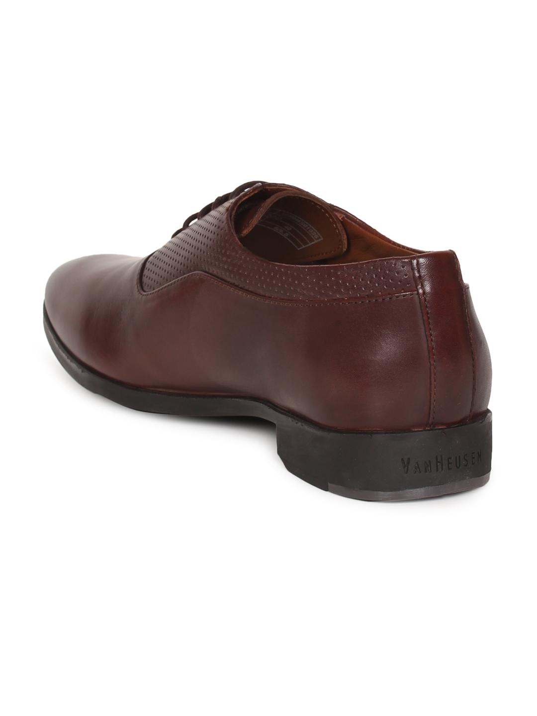 Buy Van Heusen Men Brown Textured Formal Oxfords - Formal Shoes for ... ce3234051