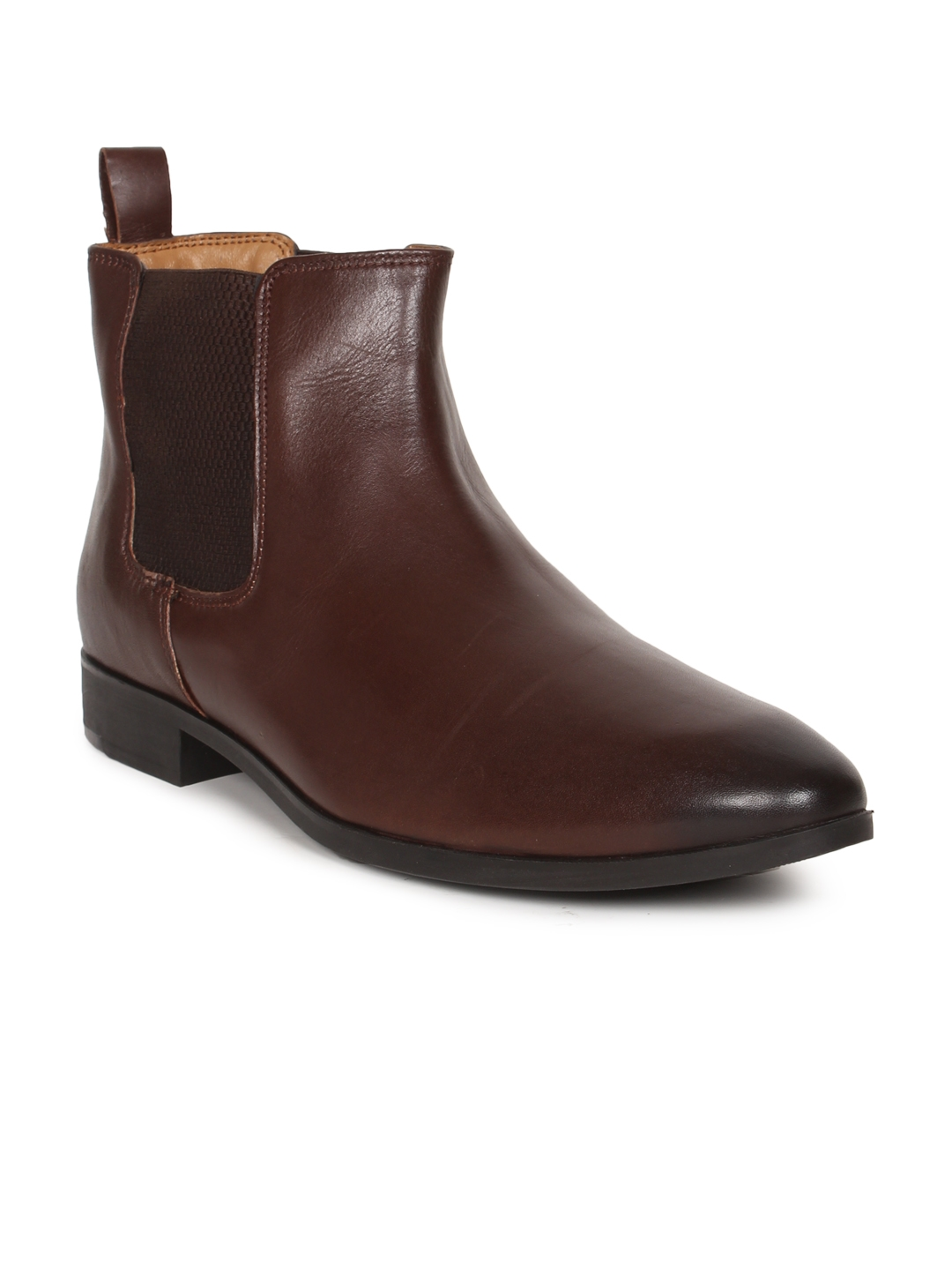 8a9be709fe Buy Van Heusen Men Brown Formal Chelsea Boots - Formal Shoes for Men ...
