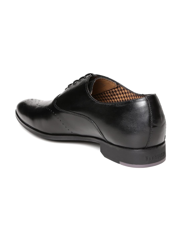Buy Van Heusen Men Black Leather Semiformal Oxfords - Formal Shoes ... 0d69b5870