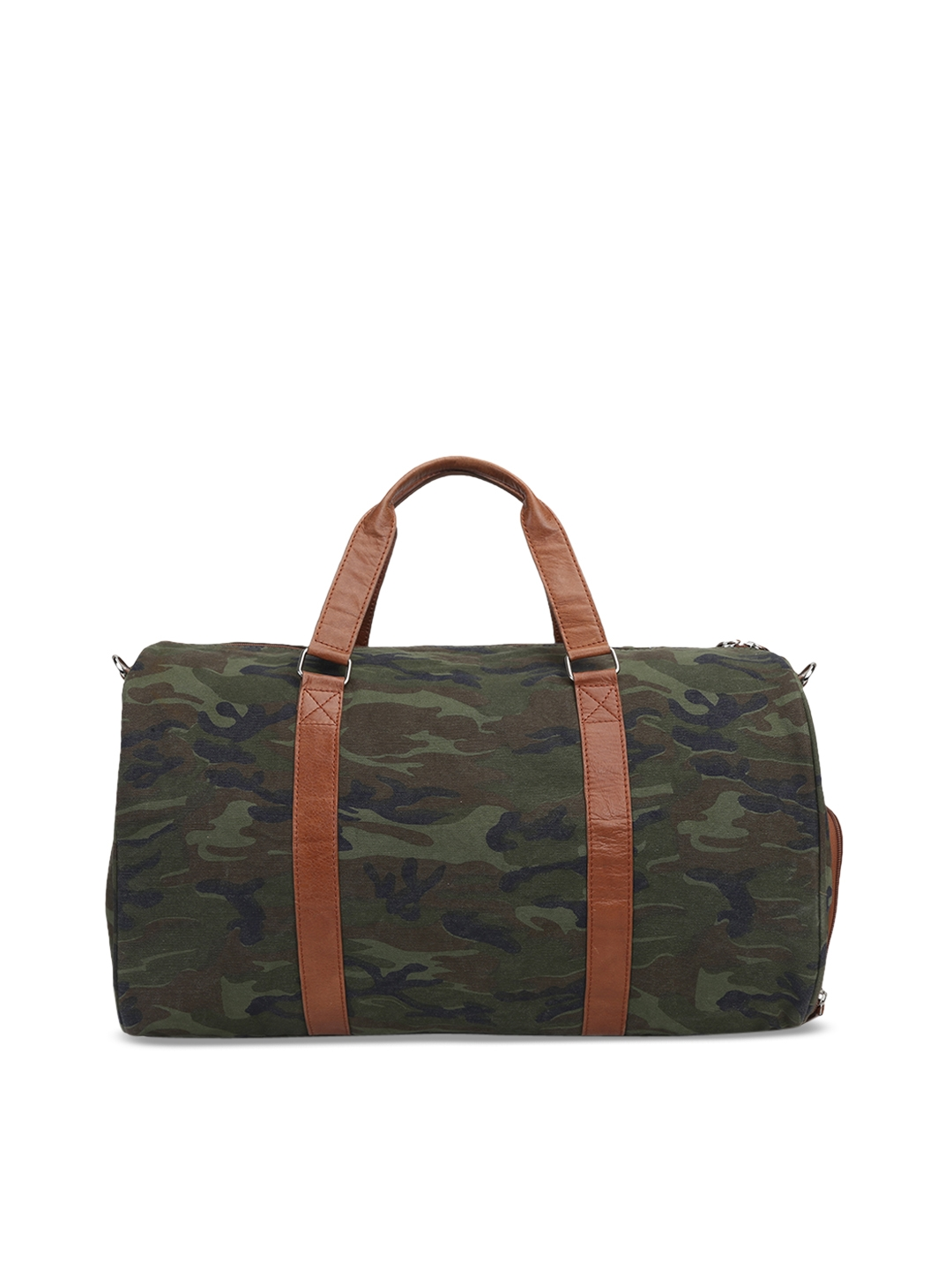 26f17ef156 Buy BARESKIN Green Unisex Leather Duffle Bag - Duffel Bag for Unisex ...