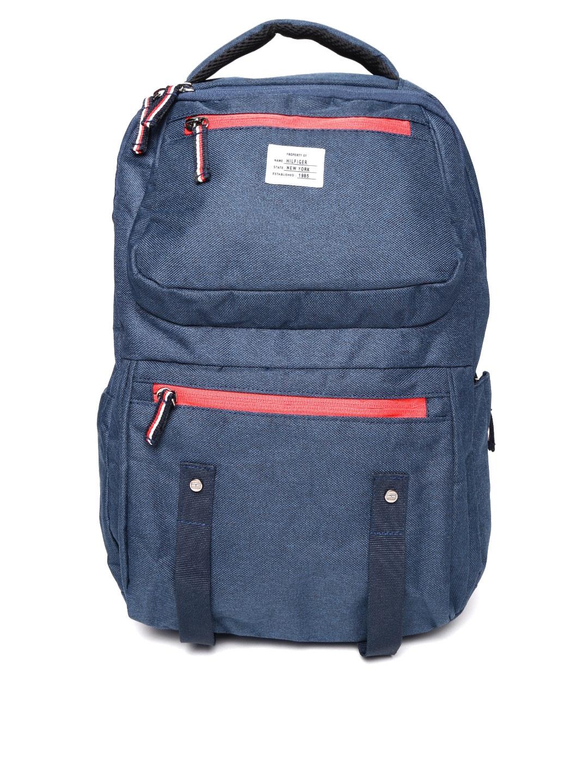 Tommy Hilfiger Unisex Navy Blue Laptop Backpack Tommy Hilfiger Backpacks