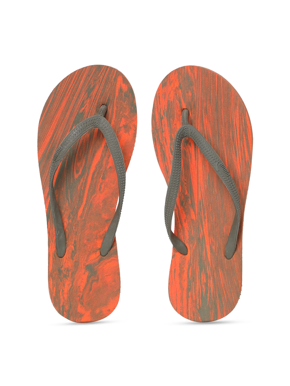 0cd569634fc Buy Puma Women Orange   Grey Printed Thong Flip Flops - Flip Flops ...