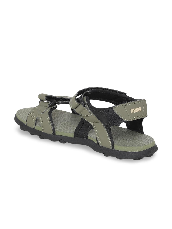 8aed37c12734 Buy Puma Men Olive Green   Black Starry MU IDP Comfort Sandals ...