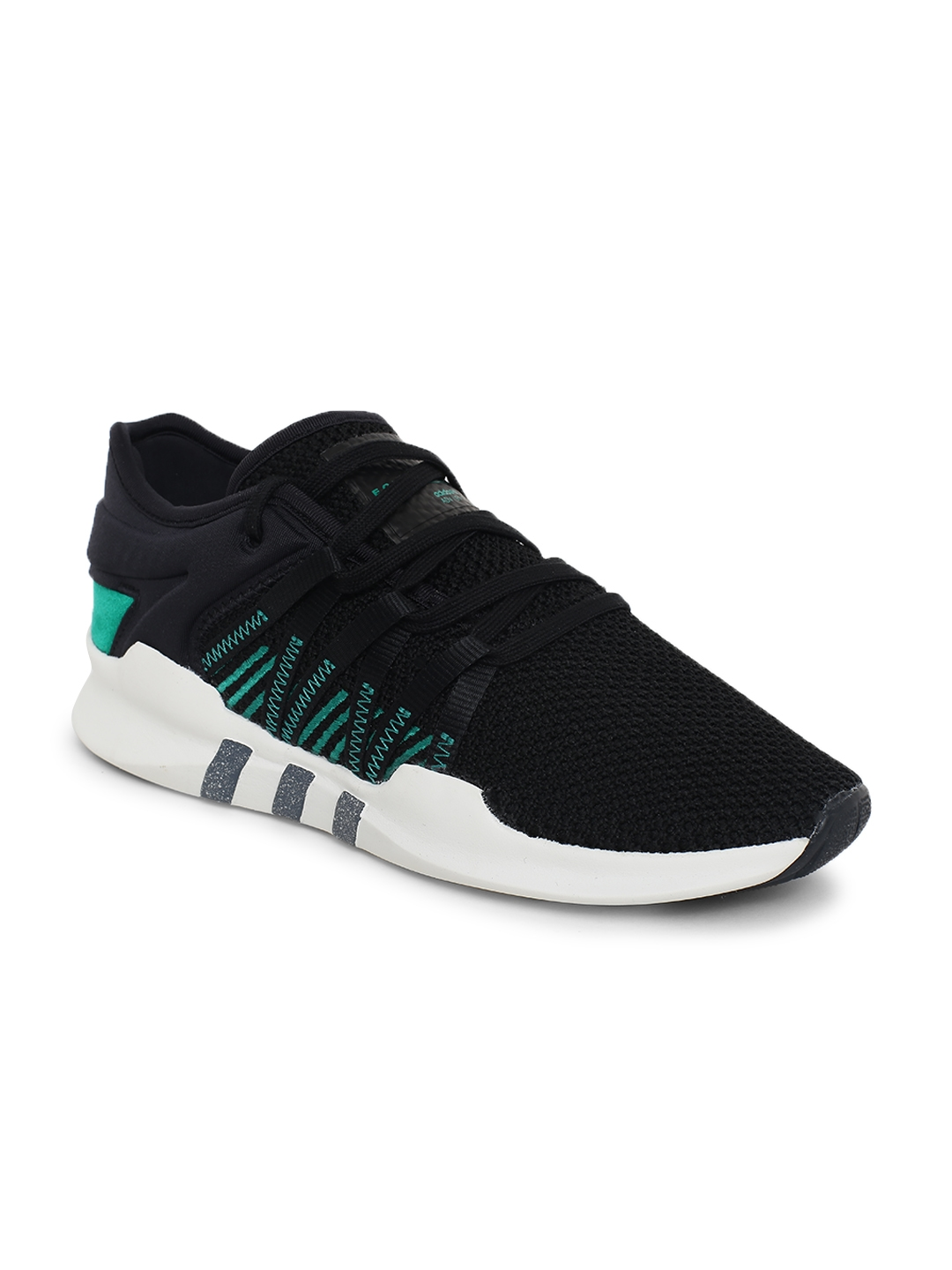 watch 376f7 6b652 ADIDAS Originals Women Black EQT RACING ADV Sneakers
