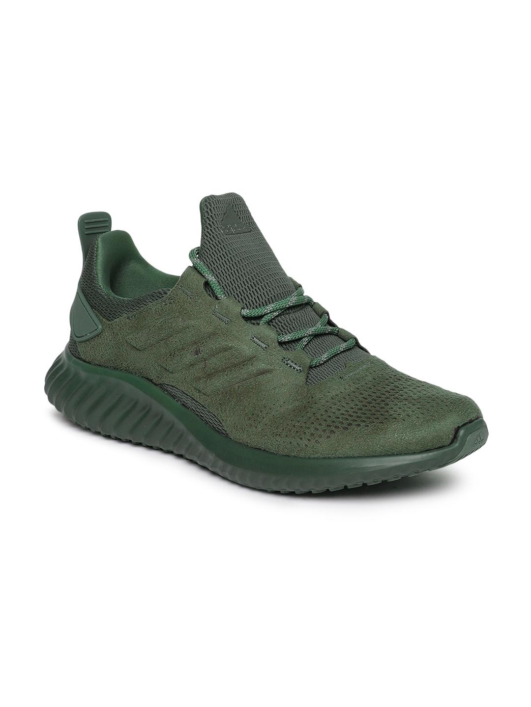 b77eb54b20fd2 Buy ADIDAS Men Olive Green Alphabounce CR Running Shoes - Sports ...