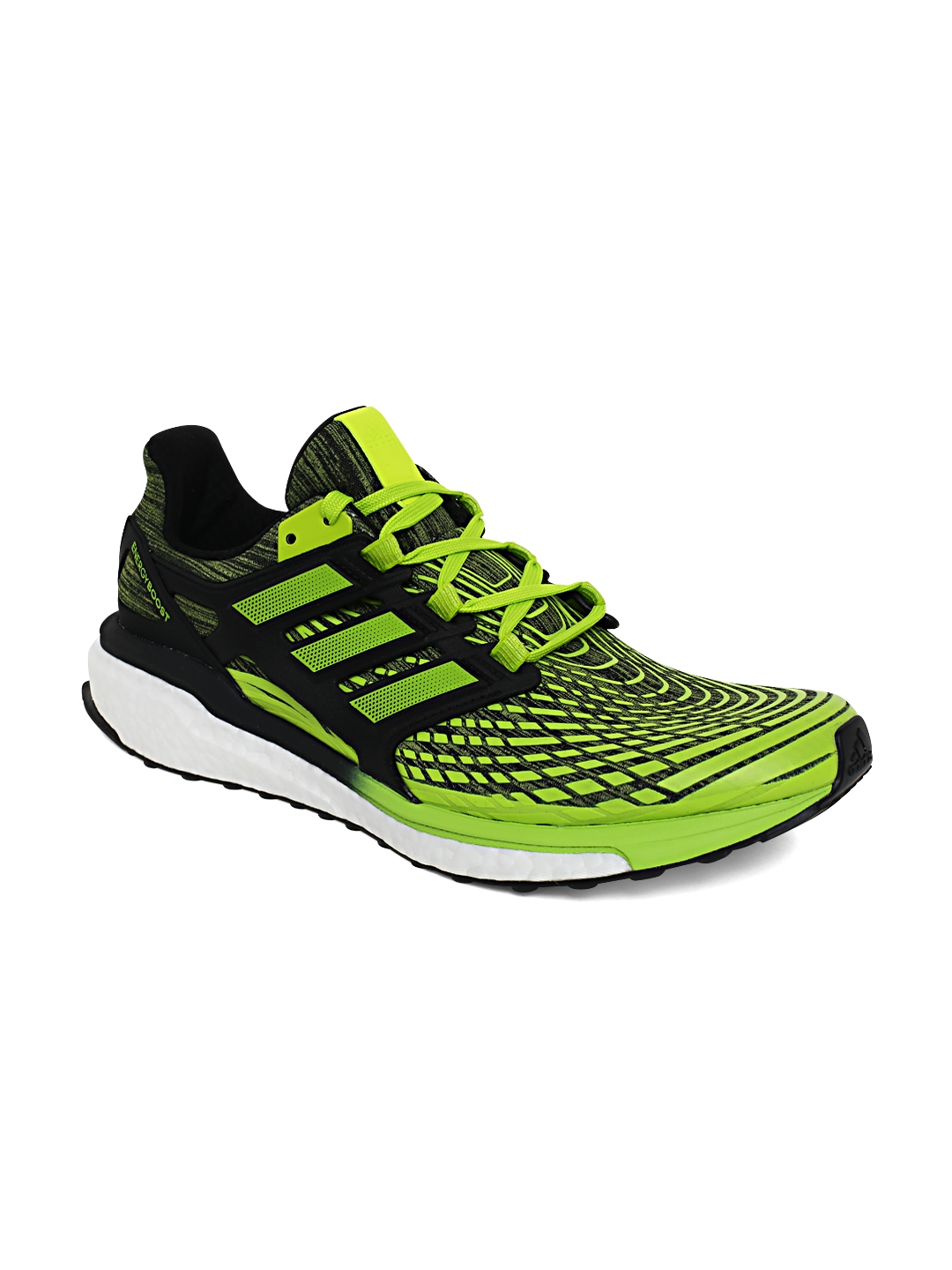 b31255b4c2c0 Buy ADIDAS Men Black   Neon Green Energy Boost Running Shoes ...