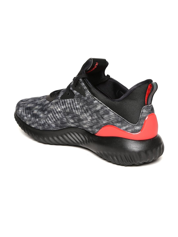 61f8febfcb59d Buy ADIDAS Men Grey   Black Alphabounce 1 CNY U Patterned Running ...