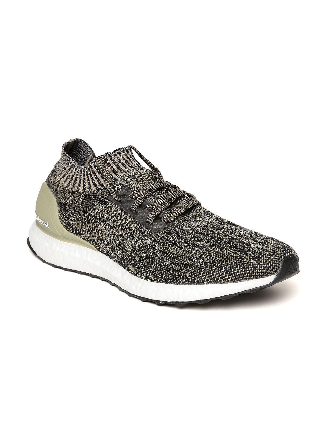 0cdffacece18 Buy ADIDAS Men Olive Green Ultraboost Uncaged Patterned Running ...