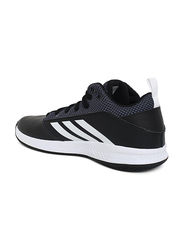 5e8d6b23302 Buy ADIDAS Men Black ILATION 2.0 4E Leather Basketball Shoes ...