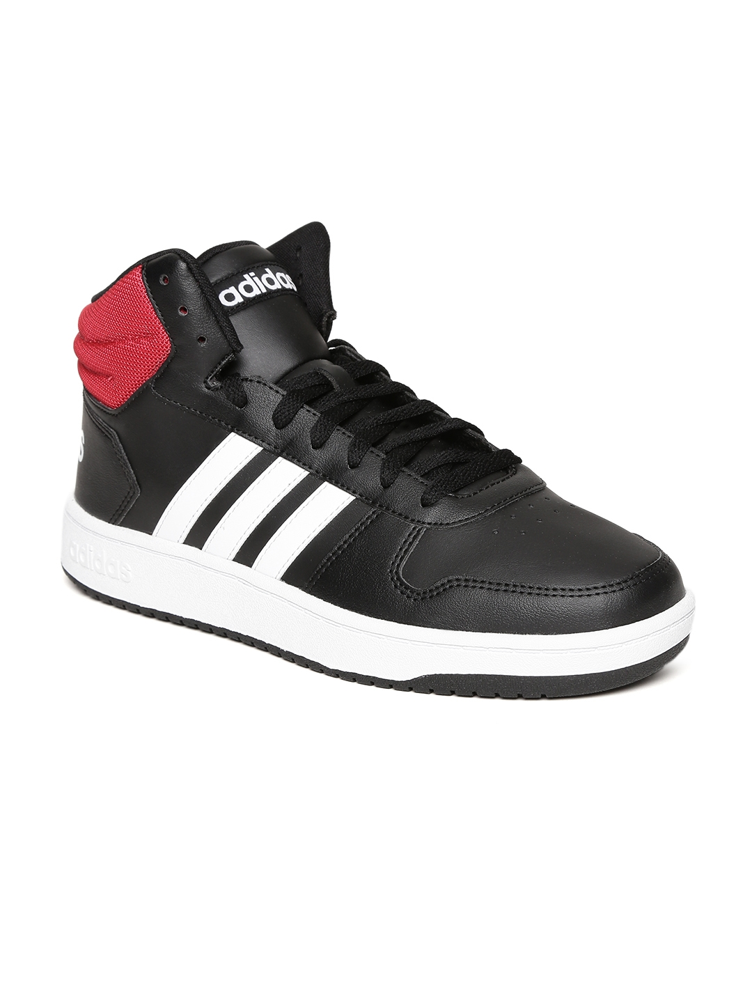 8d7e000908fb Buy ADIDAS Men Black HOOPS 2.0 MID Sneakers - Casual Shoes for Men ...