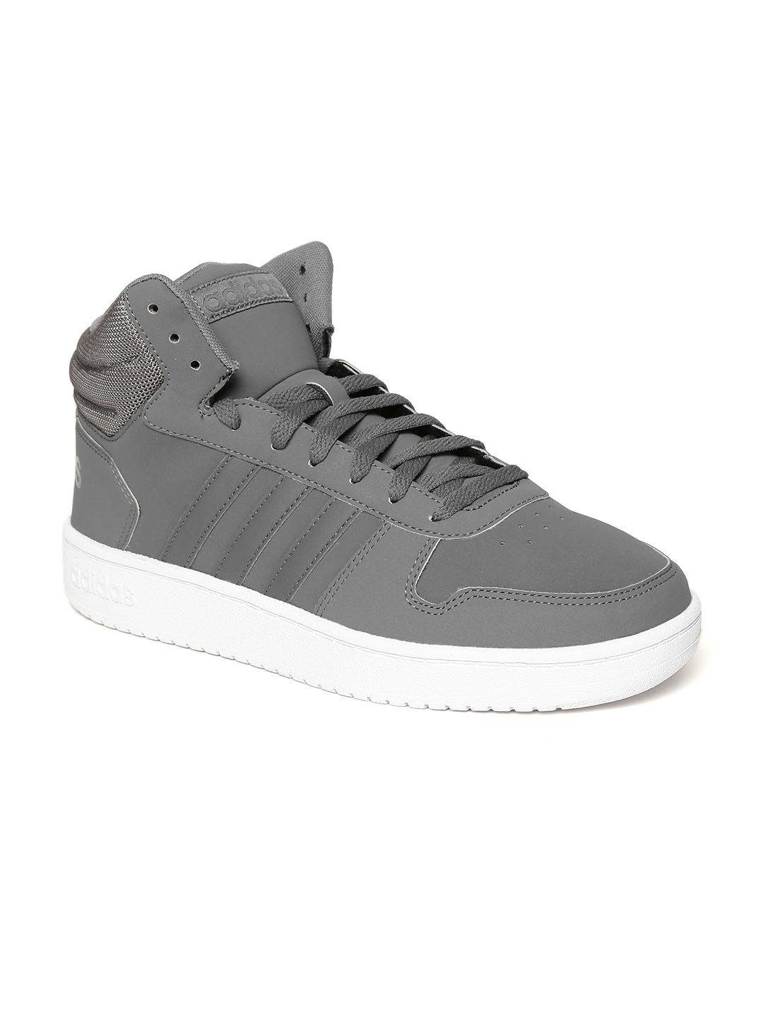 Buy ADIDAS Men Grey HOOPS 2.0 MID Sneakers - Casual Shoes for Men ... 2b8ddfe21