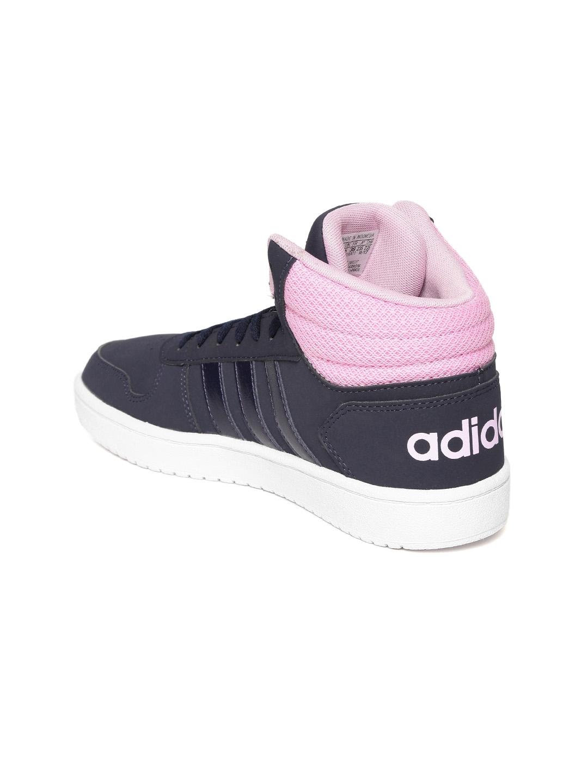 hot sale online 266ae 0b521 ADIDAS Women Navy Blue HOOPS 2.0 MID Sneakers