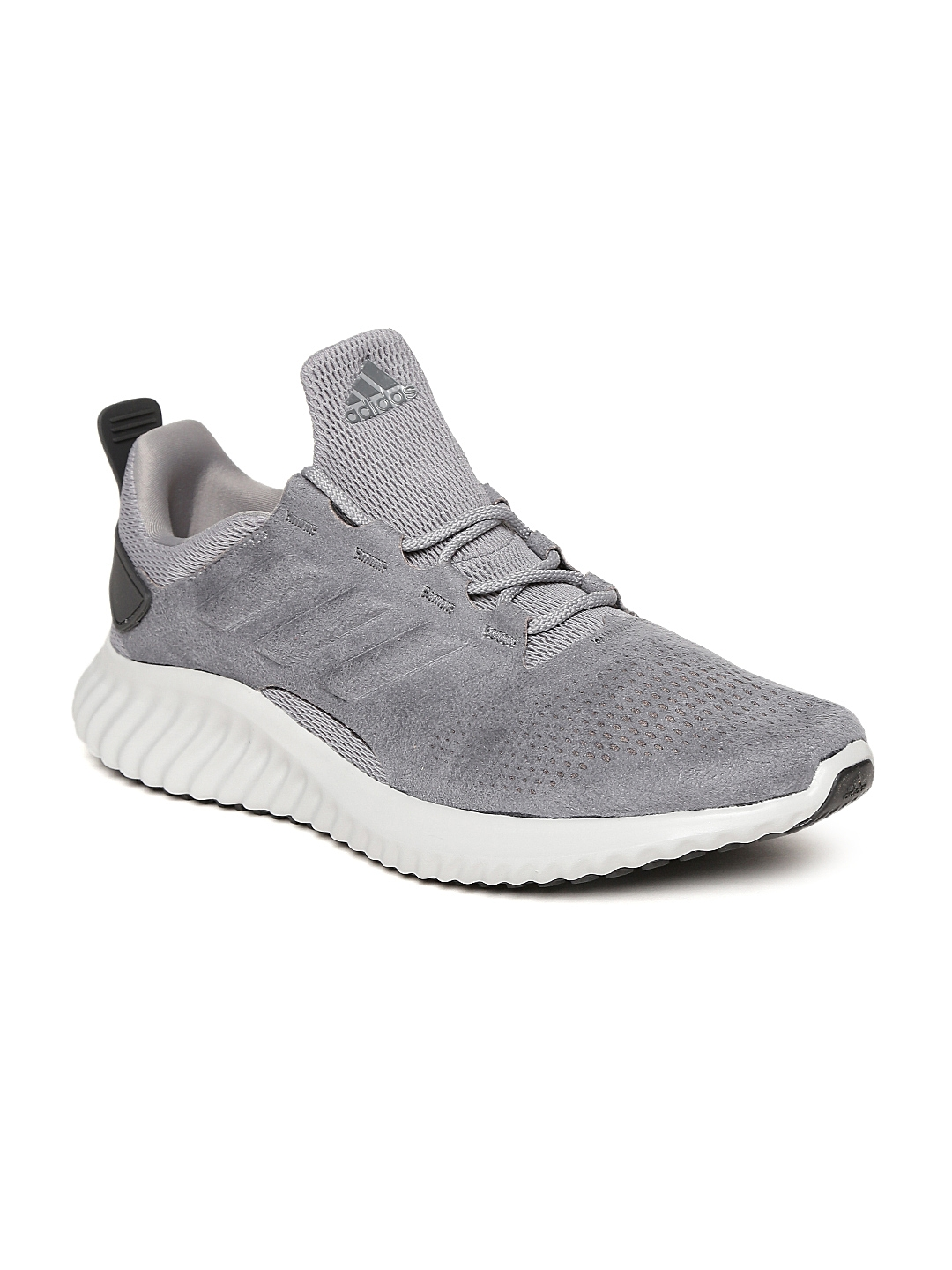 dd3b26d82 Buy ADIDAS Men Grey Alphabounce CR Suede Running Shoes - Sports ...
