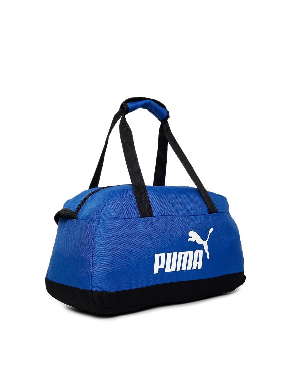 Buy Puma Unisex Blue   Black Phase Sport Duffel Bag - Duffel Bag for ... da6c7f1859