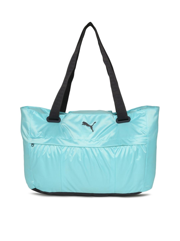 fd58a5b3c98e76 Buy Puma Women Blue AT Workout Duffel Bag - Duffel Bag for Women ...