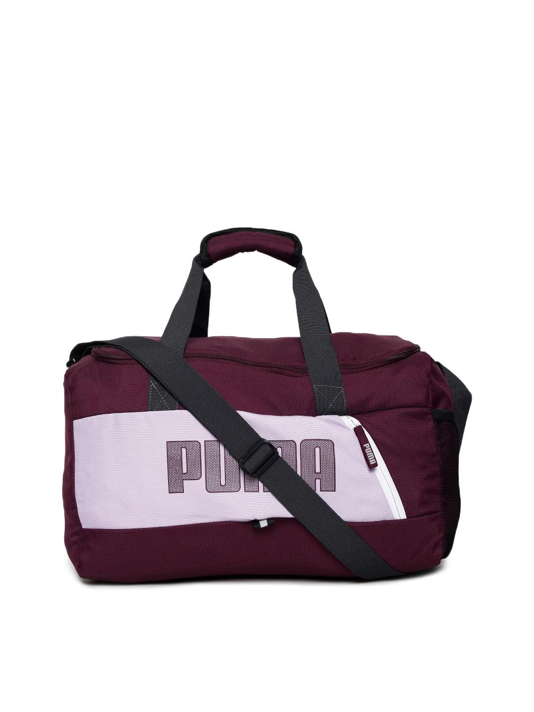 Buy Puma Unisex Purple Fundamentals Sports S II Duffel Bag - Duffel ... 1075ae191411e