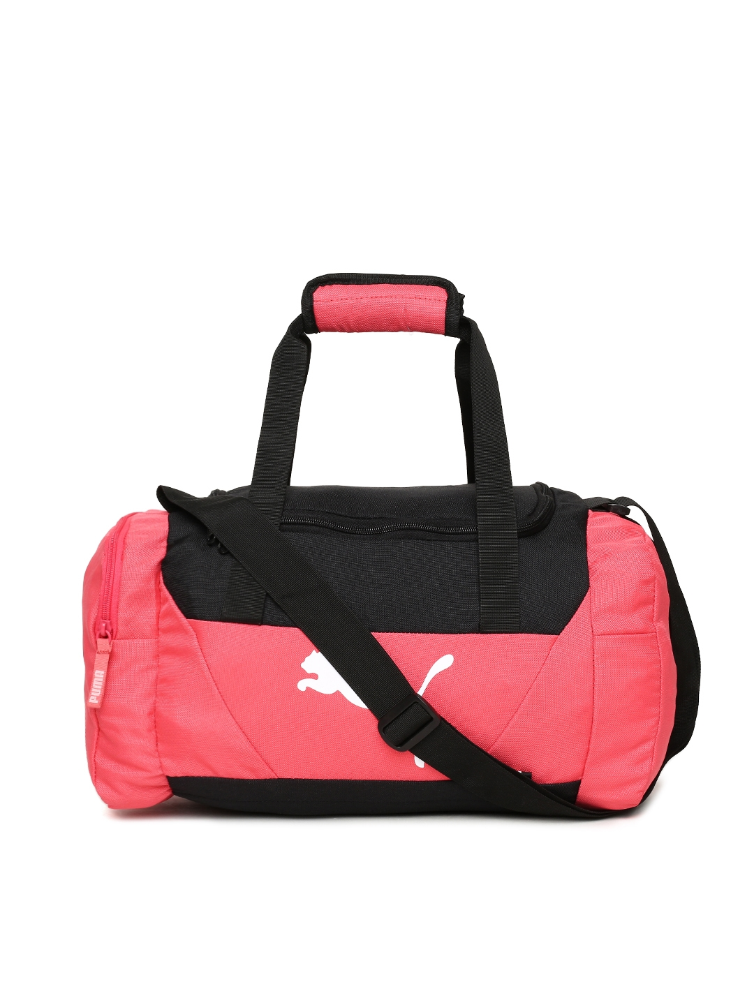 0cf304bd1b Buy Puma Unisex Pink   Black Fundamentals Sports Duffel Bag - Duffel ...
