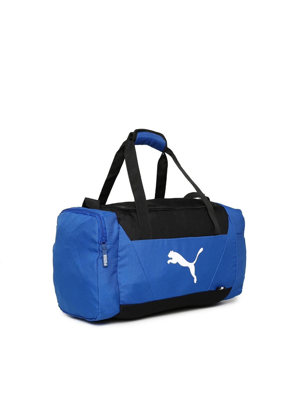 726dc3352b00 Buy Puma Unisex Blue   Black Fundamentals Sports Duffel Bag - Duffel ...