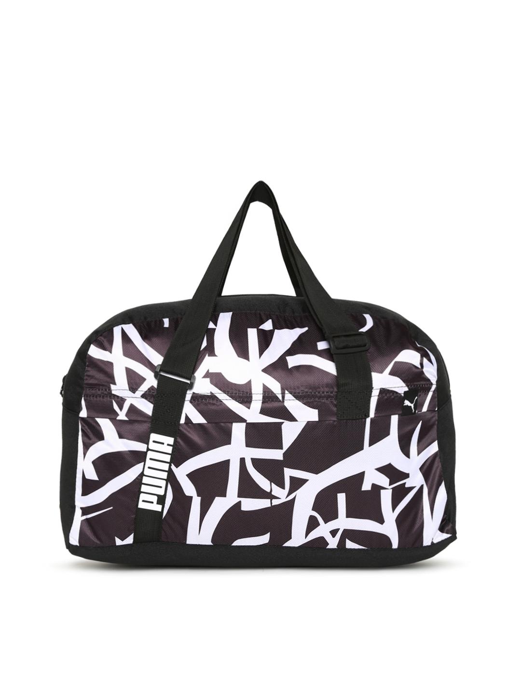 Buy Puma Women Purple   Black Core Active Printed Sports Duffel Bag ... a208e127cd9d9