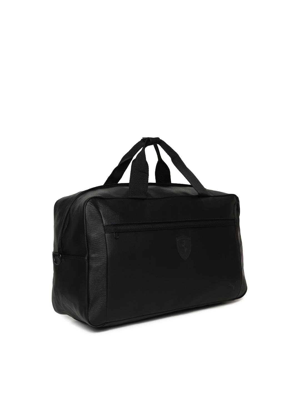 Buy Puma Unisex Black Scuderia Ferrari LS Weekender Duffel Bag ... b0928d0ab5cfd