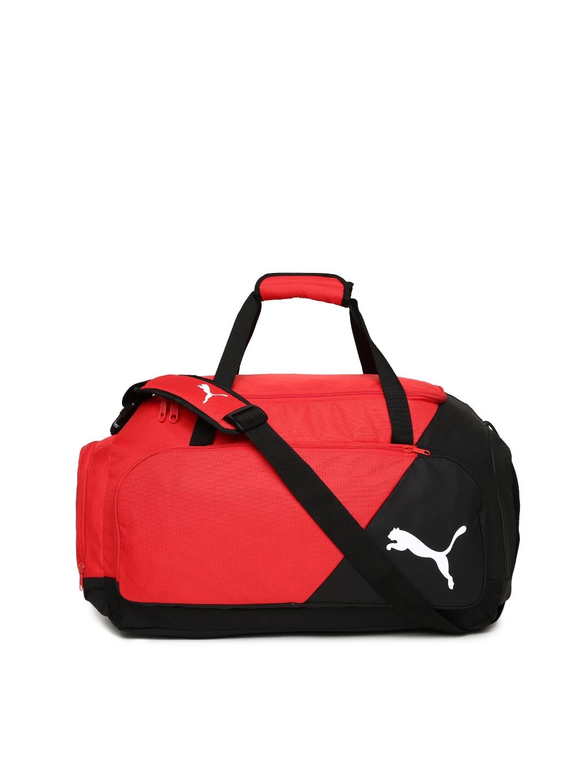 b3e33313ae0f Buy Puma Unisex Black   Red LIGA Medium Sports Duffel Bag - Duffel ...