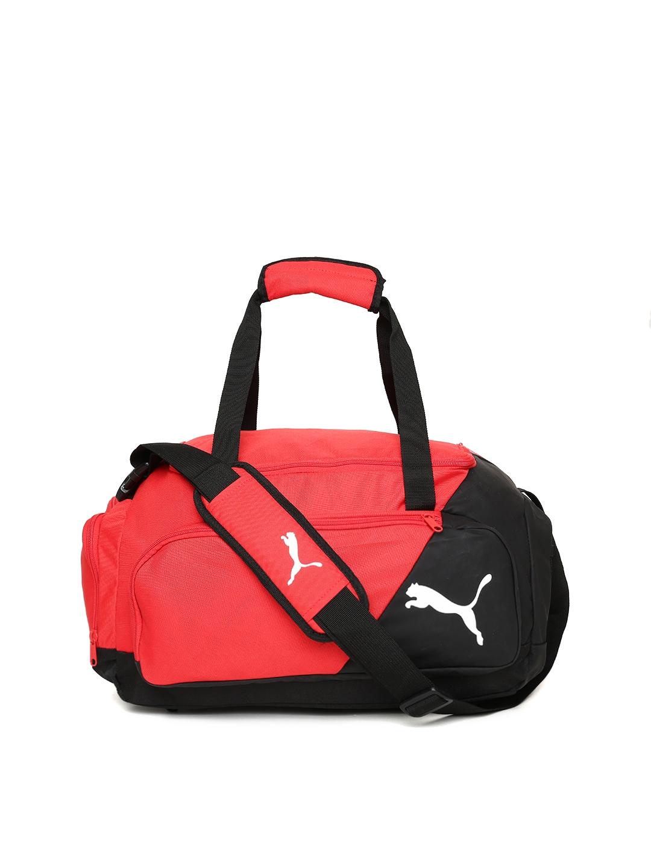 107fd3f3a2ec Buy Puma Unisex Red   Black Colourblocked LIGA Small Duffel Bag ...