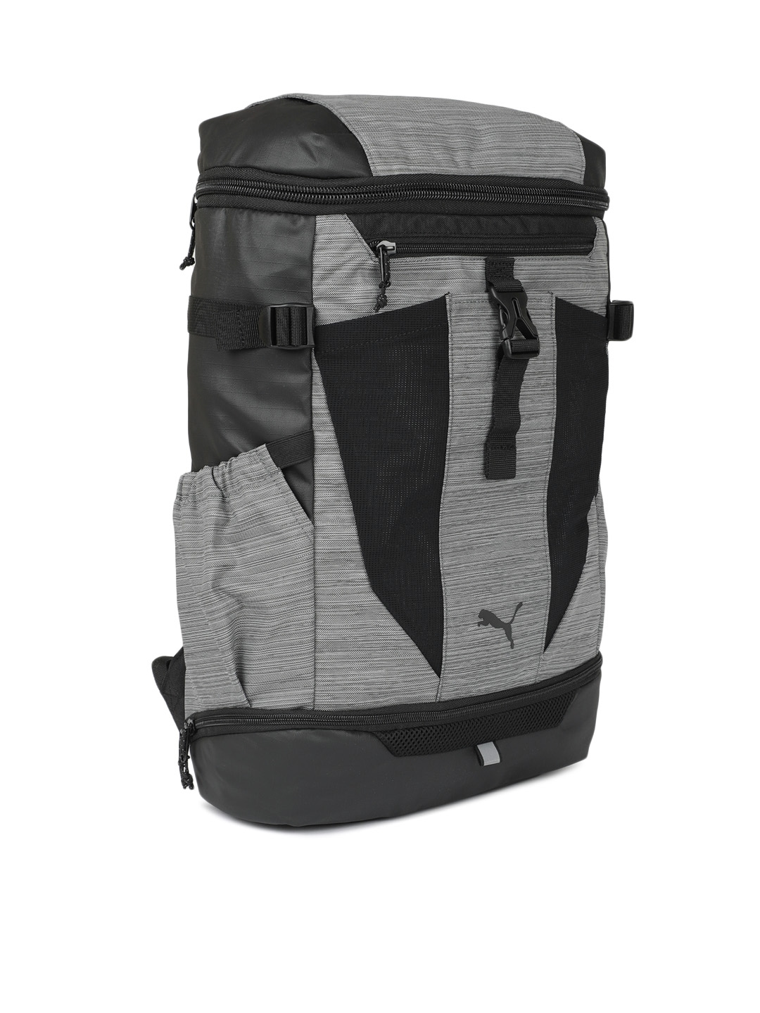 4c6fbc4252 Buy Puma Unisex Grey   Black Colourblocked Energy Backpack ...