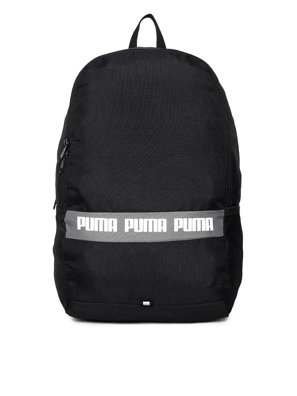 8addc3eea528 Buy Puma Unisex Black Phase II IND Brand Logo Backpack - Backpacks ...