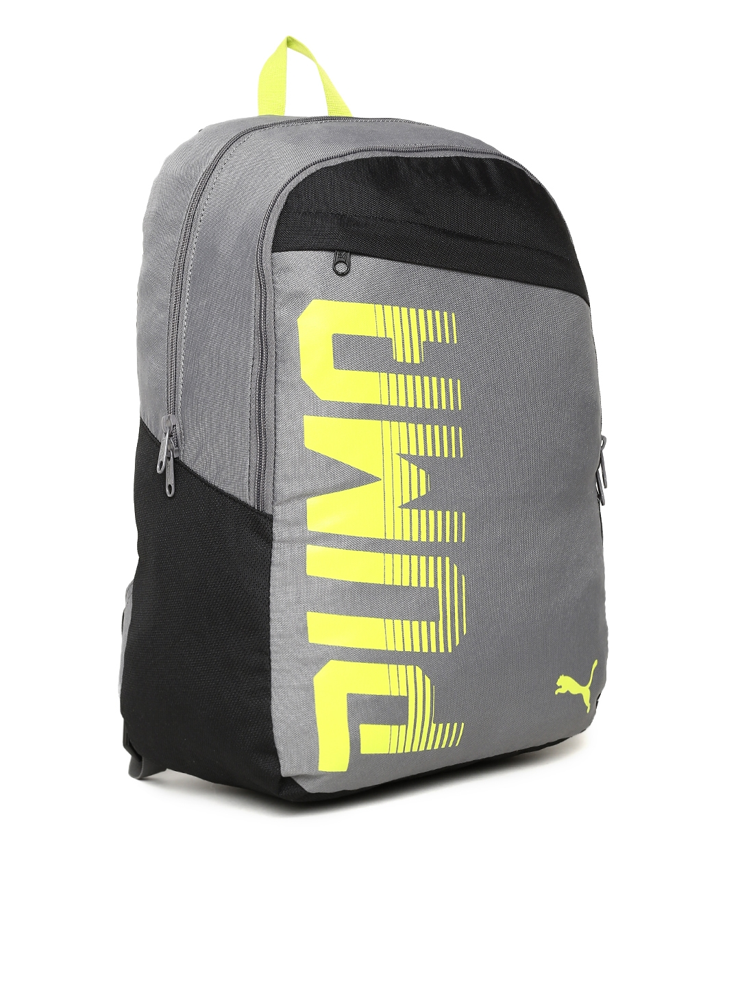 aaa26ab2d4 Buy PUMA Unisex Grey   Black Printed Pioneer I IND Backpack ...