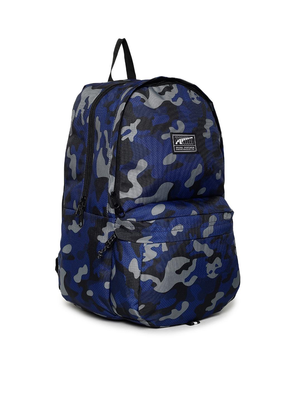 08c5bef17168ee Buy Puma Unisex Blue Camouflage Print Academy IND Backpack ...