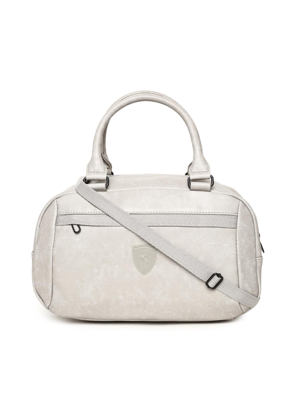 Buy Puma Grey Scuderia Ferrari LS Handbag - Handbags for Women ... 3eb3c3feaea0a