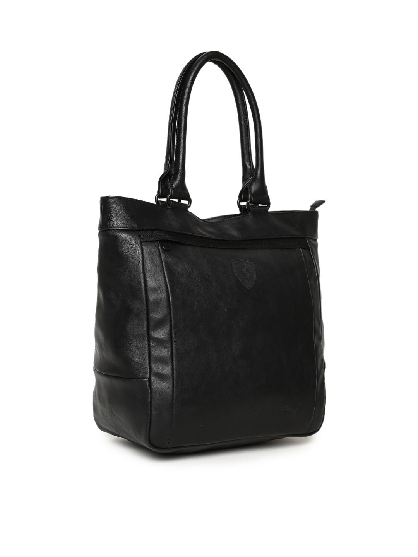 Buy Puma Black Scuderia Ferrari LS Shopper Shoulder Bag - Handbags ... f196740e7462c