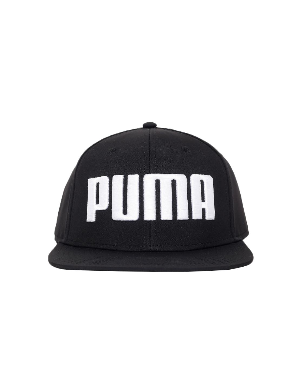 e1422368dd0 Buy Puma Unisex Black Embroidered Flatbrim Snapback Cap - Caps for ...