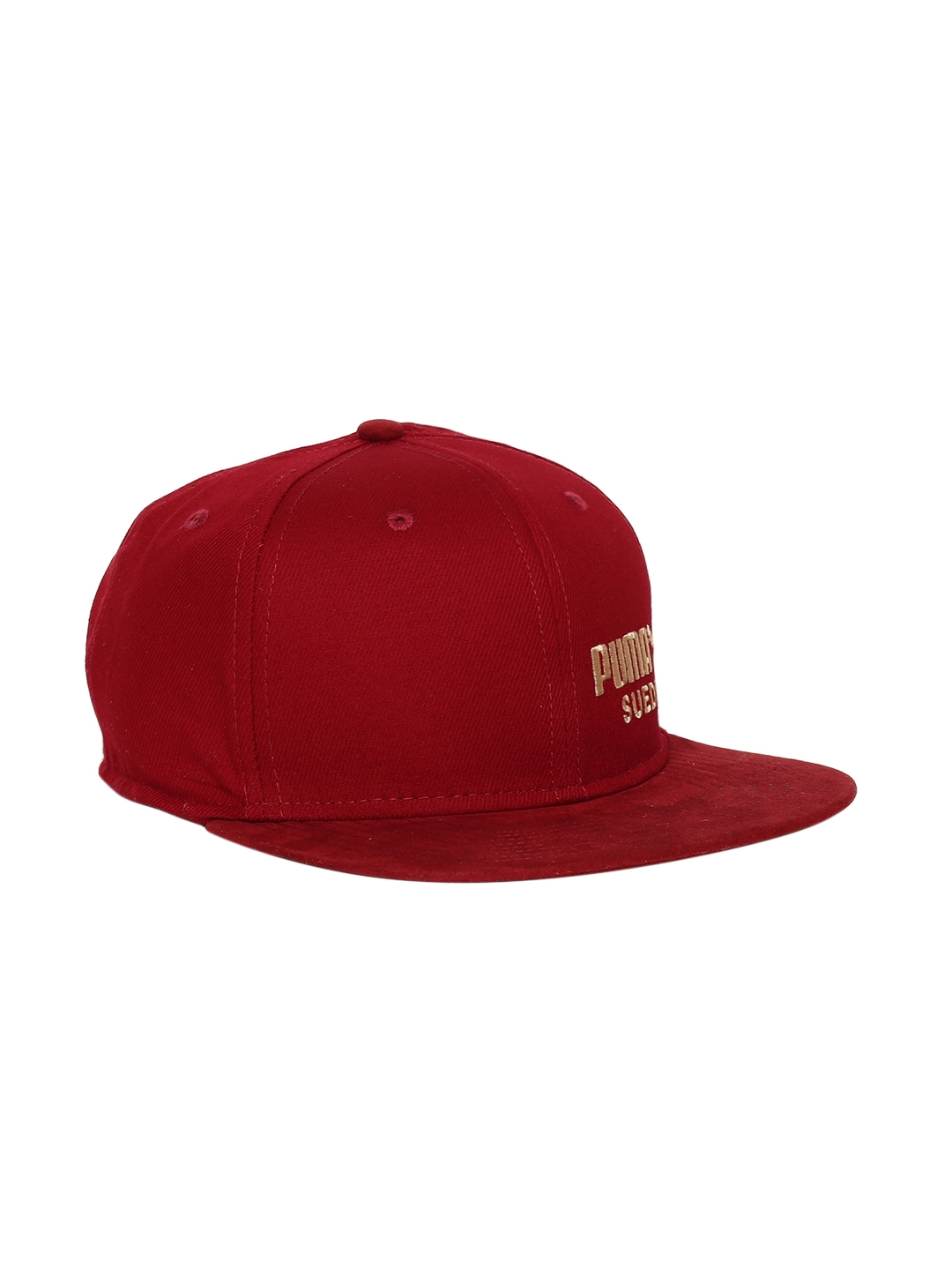 b36eaefc0c9 Buy Puma Unisex Red Solid ARCHIVE Suede Baseball Cap - Caps for ...