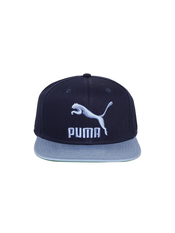34f873a84e3 Buy Puma Unisex Blue LS ColourBlock Snapback Cap - Caps for Unisex ...