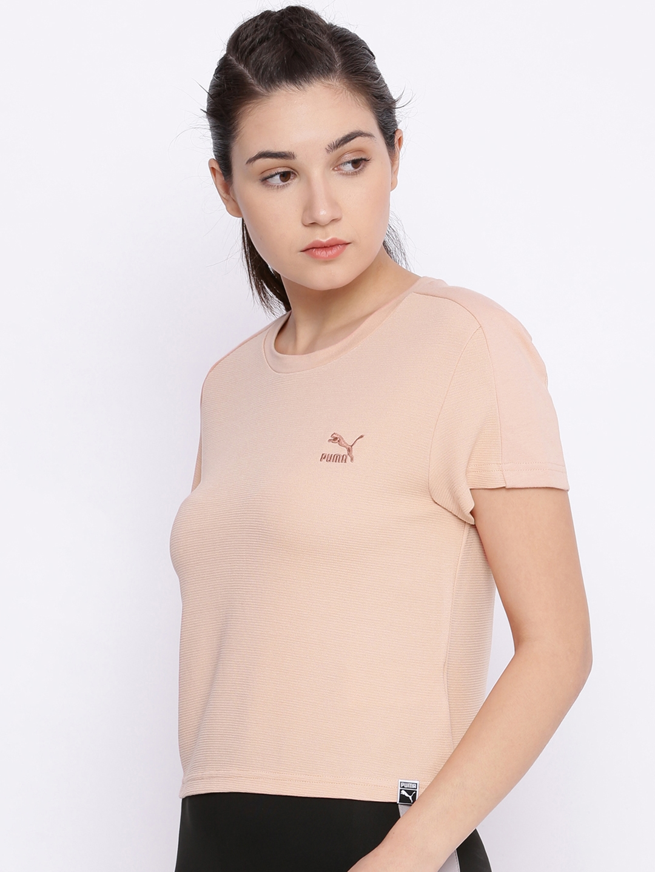 5f152ab8631f Buy Puma Women Peach Classics Structured T Shirt - Tshirts for Women ...
